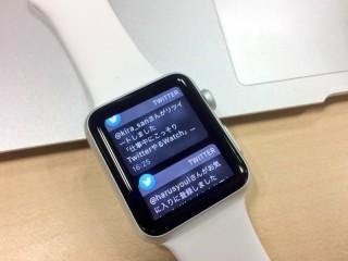 Apple Watchを購入したので一日使ってみた使用感、感想、レビューなどを_Twitter通知6