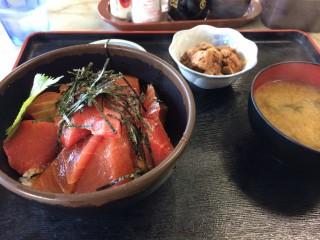 ツーリング写真 神奈川三浦半島 城ヶ島 マグロ丼