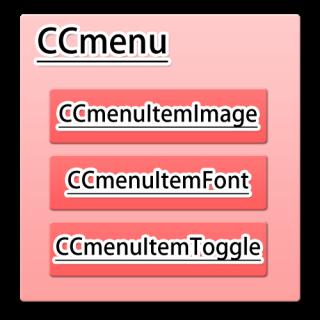 【iPhoneアプリ】「cocos2d for iPhone」でゲームアプリを作ってみる(CCMenu、CCMenuItemをメニューを作成):CCItemイメージ図