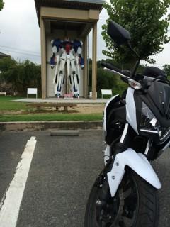 ツーリング写真 .岡山県 久米の里 ゼータガンダム