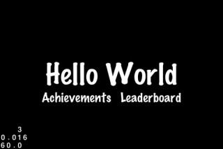 【iPhoneアプリ】「cocos2d for iPhone」でゲームアプリを作ってみる(1):スクリーンショット1(HelloWorld)