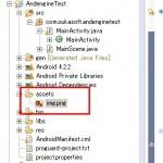 【Androidアプリ開発】オープンソースゲームエンジン「AndEngine」でSprite(スプライト)を表示する:assetsディレクトリに画像ファイルを用意